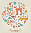 Round pattern in paris or french theme vector Royalty Free Stock Photos