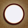 Round picture frame the brown on wooden background Stock Images