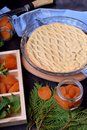 Pie with dried apricots and topped with lattice pastry Royalty Free Stock Photo