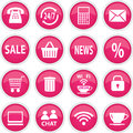 Round pink icons stock image Royalty Free Stock Photos