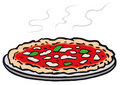Round pizza (vector) Stock Photography