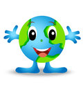 A round planet is earth merry personage vectorial illustration Stock Images