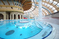 Round pool with pure water at waterpark caribia moscow june on june in moscow russia in perovo was opened in Stock Photos