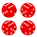 Round Red Dice Object Set Isol...