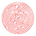 Round red maze against white Stock Image