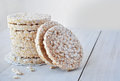 Round rice cakes Royalty Free Stock Photo