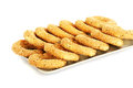 Round rusks with sesame seeads on tray Stock Photography