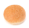 Round sandwich bun with sesame seeds Royalty Free Stock Photo