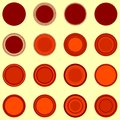 Round seal shapes in orange-brown colors Royalty Free Stock Photo
