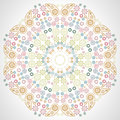 Round seamless pattern of colored flowers Stock Photos
