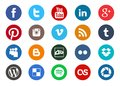 Round social media icon collection
