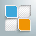 Round Squares 4 Options 2 Holes Checkered Background Royalty Free Stock Photo