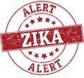 Zika alert round stamp