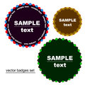 Round star badges Royalty Free Stock Image