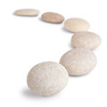 Round stones isolated on white abstract background Royalty Free Stock Photo