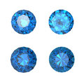 Round swiss blue topaz Stock Photography