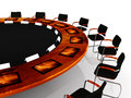 Round Table Stock Photo
