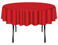 Round table on legs covered with a red cloth vector illustration Stock Photography
