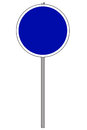 Round traffic sign Stock Photos