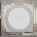 Round truss stage with empty space at Stock Photography
