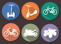 Round vector icons moto six Royalty Free Stock Images