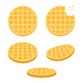 Round waffles set Royalty Free Stock Photo