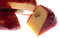 Round wax covered dutch edam gouda cheese Stock Photo