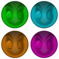 Round web button with arrow vector illustration Royalty Free Stock Photography