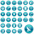 Round web icons / buttons 3 Royalty Free Stock Photo