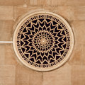Round window decorated with rosette Royalty Free Stock Photo