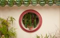 Round window in wall Royalty Free Stock Photos