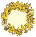 Round yellow frame Stock Images