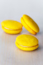 Round yellow marron cookies Royalty Free Stock Image
