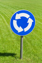 Roundabout road sign Stock Images