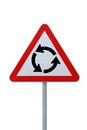 Roundabout Sign Isolated Royalty Free Stock Image
