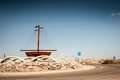 Roundabout spain rusted model ship in a in Royalty Free Stock Photo