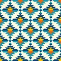 Rounded colorful aztec diamonds pattern