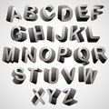 Rounded d font monochrome vector symbols alphabet Royalty Free Stock Photo