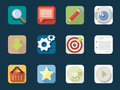 Rounded flat icons for web and mobile applications Stock Photography