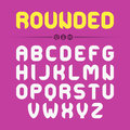 Rounded font design set of letters in style illustration Royalty Free Stock Photography