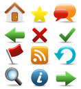 Rounded Icons Set - Web and Internet Buttons Royalty Free Stock Image