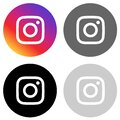 Rounded instagram icon in four colors