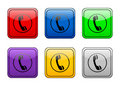 Rounded square button phone Royalty Free Stock Images