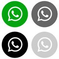 Rounded whatsapp icon in four colors