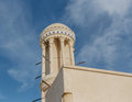 Rounded wind tower in sharjah exterior of heritage area of city united arab emirates Royalty Free Stock Photo
