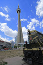 The Roundhouse Park in Downtown Toronto is home of the Toronto Railway Museum and the Steam Whistle Brewery 7-25-2016 Royalty Free Stock Photo