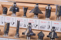 Roundover router bits for woodworking Royalty Free Stock Photo