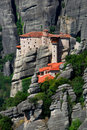 Rousannou Monastery at Meteora, Greece Royalty Free Stock Photos