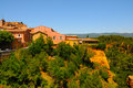 Roussillon beautiful historic hil ltown of the ochre city provence Royalty Free Stock Photo
