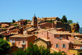 Roussillon beautiful historic hill town of the ochre city provence Stock Images